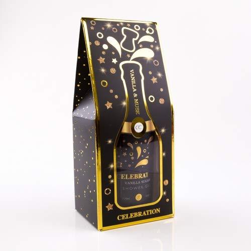 Accentra Duschgel Celebration in der Champagner-Flasche - Dusch-Seife Sekt-Flasche - Geschenkidee für Frauen und Männer - 120ml Badezusatz Farbe Black