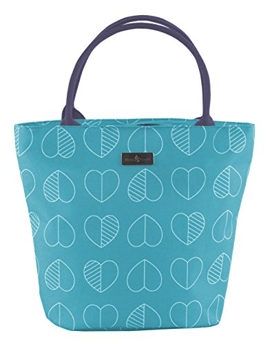 Beau & Elliot 73434 Confetti Outline Insulated Lunch Tote - Teal