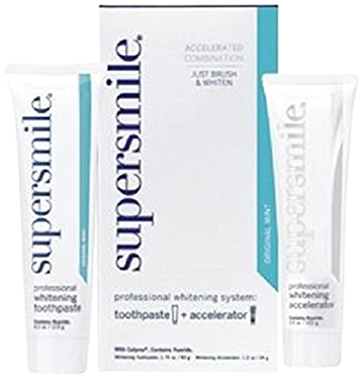 襲撃瀬戸際消防士Supersmile Professional Whitening System: Toothpaste 50g/1.75oz + Accelerator 34g/1.2oz - 2pcs by SuperSmile