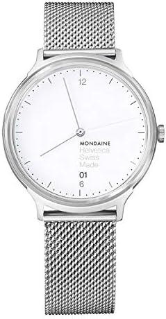 Mondaine Unisex MH1 L2210 SM Helvetica Analog Swiss Quartz Silver Watch product image