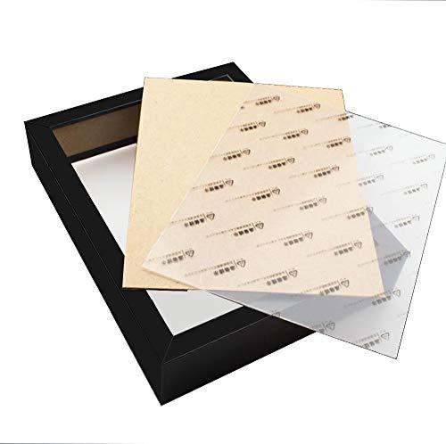 RayLineDo Schwarz 3D Deep Picture Fotorahmen Display Memory Box Für Probe Medaillen Erhaltene Frische Blume Quilling Papierkram (Platz 10 zoll)