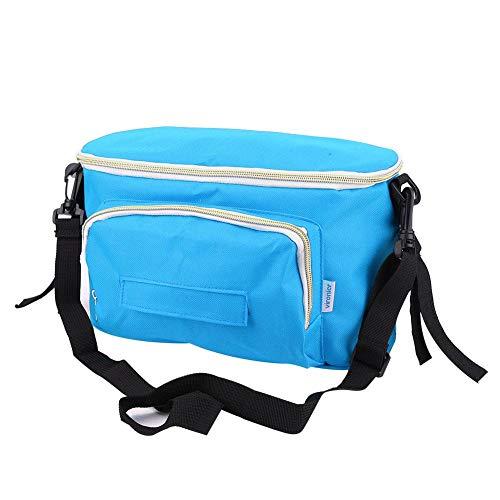 Yosoo Baby Stroller Hanging Bag Multifunctional Large Capacity Portable Organizer Storage Bag Diaper Bottle Cup Holder for Indoor Outdoor (with Belt-Blue)