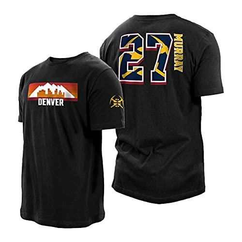 QJL Jǎmal Murrǎy Camiseta de Baloncesto Dénver Nuggtets # 27 Negro 2021 City Edition Player Camiseta Transpirable cómoda (S-3XL) S