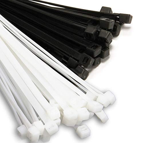 Woltersberger Profi Kabelbinder natur/weiß in Industriequalität | 100 Stück 7,6x300mm | robust und temperaturbeständig bis 85° C