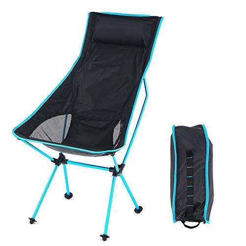 JHKJ Silla de Camping con Bolsa de Transporte Silla Portátil Ultraligera para Adultos Montañismo Aventura Senderismo Playa Silla de Mochilero