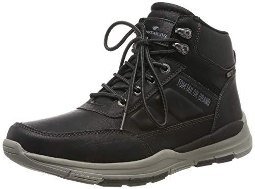 TOM TAILOR Herren 7980603 Klassische Stiefel, Schwarz (Black 00001), 43 EU