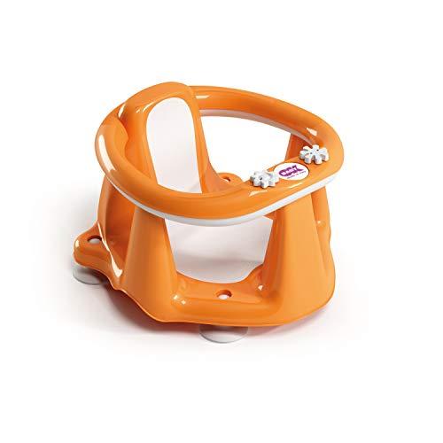 OKBABY Flipper Evolution - Anello con Seduta in Gomma Antiscivolo per il Bagnetto del Neonato 6-15 Mesi (13 kg) - Arancione