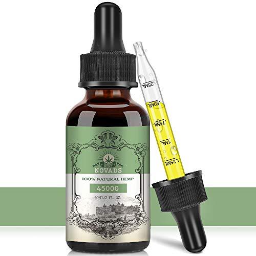 NOVADS Premium Essential Pure, 100% Vegan Natur Öl Tropfen 1X 60ML 45000MG