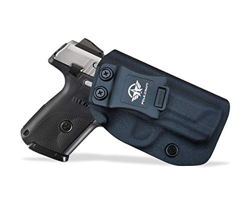 Ruger SR9C Holster, Kydex IWB Holster for Ruger SR9C Holsters - Inside Waistband Concealed Carry - IWB Kydex Holster Ruger SR9C Pistol Case Concealed Gun Accessories (Black, Right Hand Draw)