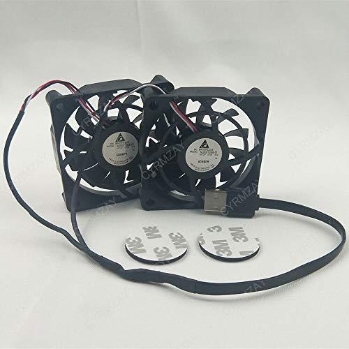 CYRMZAY Compatible para AUSU RT-AC68U 86U 1900P Wireless Router Fan NUB0612MB-01 6515MM 12V 0.10Ax2 USB