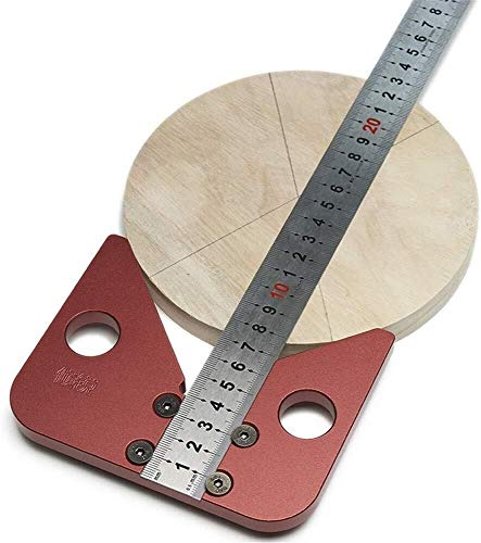 Center Finder Line Gauge Houtbewerking Aluminium Center Scribe Vierkant Centrum Scribe Meetgereedschap, 45/90 Graden Rechthoek Hoek Lijn Gauge Timmerman Liniaal Draaibank Metalen Draaiwerk