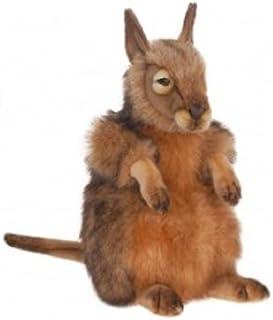 "Set of 2 Life-Like Handcrafted Extra Soft Plush Kangaroo Hare Wallaby Stuffed Animals 15.5"""