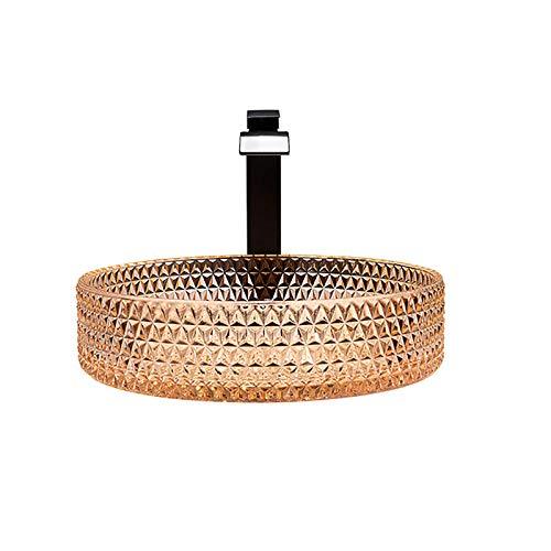 Baño, Inodoro, Cuarto de Ducha Naranja Lavabo de baño Lavabo de Vidrio Lavabo de Recipiente de Vidrio Fregadero de Recipiente artístico Cilindro Instalación de encimera de tocador Lavabos de tocador
