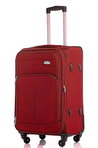 TOP-trolley-koffer - 63x42x28cm - XL-Light - 75 liter - 3,2 kg - 4 dubbele wielen - plooi (rood)