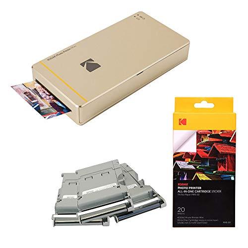 Mini Impressora de Fotos, Kodak, Kodak_Kit2, Dourada