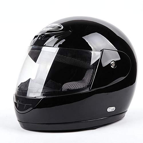 FLY® Casque Intégral Masculin, Casque De Moto, Casque De Protection, Saison Universelle, Réglage Du Tour De Tête (55-62cm) (Couleur : Black1)