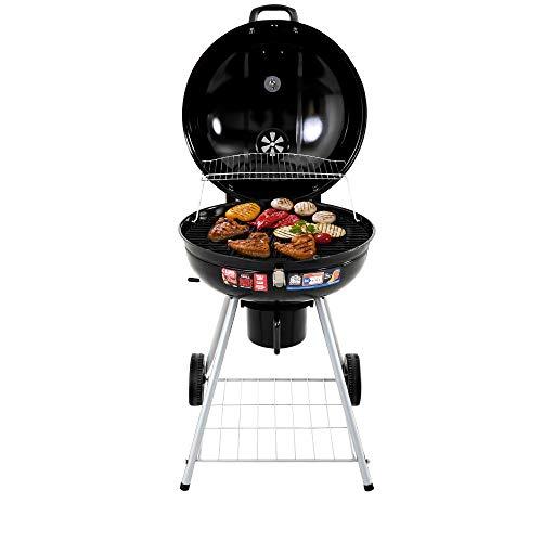 DREAMO Outdoor Barbecue Grill Charcoal Barbecue Portable Smoker BBQ -Black