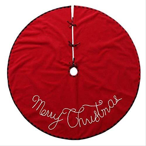 tytltree Rode Boom Rok Doek, Kerstboom Jurk, Met Vrolijk Kerstmis Brief Print Thuis Restaurant Mall Decor,120Cm