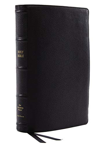NKJV, Reference Bible, Classic Verse-by-Verse, Center-Column, Premium Goatskin Leather, Black, Premier Collection, Red Letter, Comfort Print: Holy Bible, New King James Version