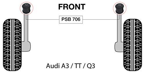 PSB PSB706 - Juego de bujes traseros para brazo de remolque A3/TT/Q3 (05-15)