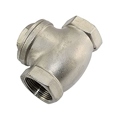 """1-1/4"""" Swing Check Valve WOG 200 PSI PN16 Stainless Steel SS316 CF8M NPT from SuperWhole"""