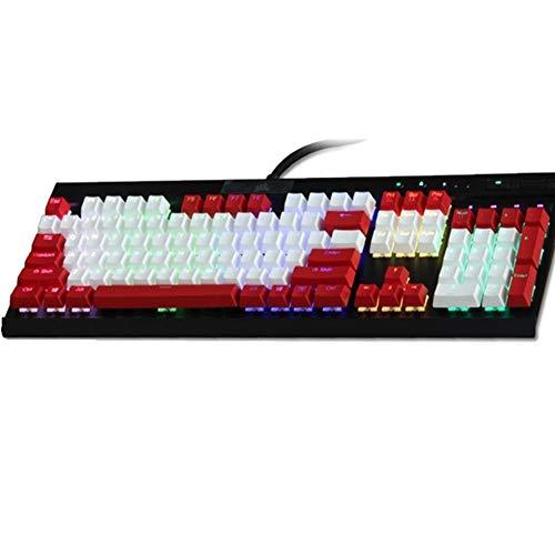 ZJP-dzsw Keycaps Tastiera retroilluminata PBT Cherry MX Copritasti for K70   K65   K95 Meccanica (Color : Grey)