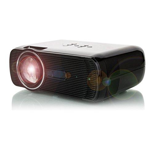 Mini proyector portátil, proyector 3D HD 1080P LED Home Cinema Theater, 2300 luminoso VGA USB AV HDMI, permite zoom de hasta 300 pulgadas (negro)