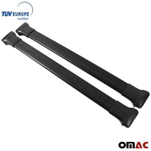 OMAC GmbH Aluminium Schwarz Dachträger Dachgepäckablage Relingträger für Duster Facelift 2014-2018 Dachgepäckträger mit TÜV ABE