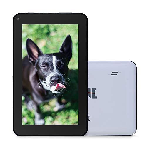 Haehne 7 Zoll Tablet PC, Google Android 9.0 GMS Zertifiziertes, HD Bildschirm, 1GB RAM 16GB ROM, Bluetooth, WiFi, WiFi, Weiß