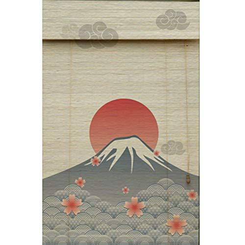 ZAQI Estores enrollables Estilo japonés Roller Shade Mount Fuji Theme, 50 cm / 65 cm / 80 cm / 95 cm de Ancho 60% Persianas Opacas for Ventanas de Puertas Interiores y Exteriores (Size : 80×65cm)