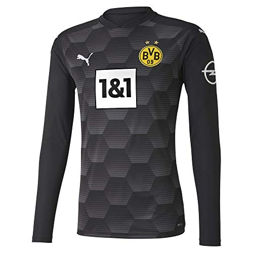 PUMA Herren BVB GK Shirt Replica LS w.Sponsor New T Black, L
