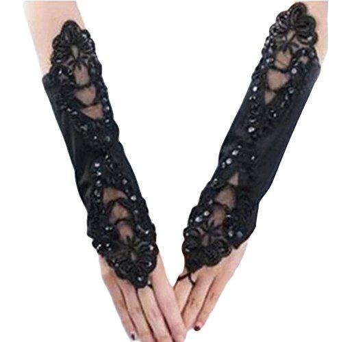 Élégantes Gants de mariage mariée cortège des gants de dentelle de robe-10