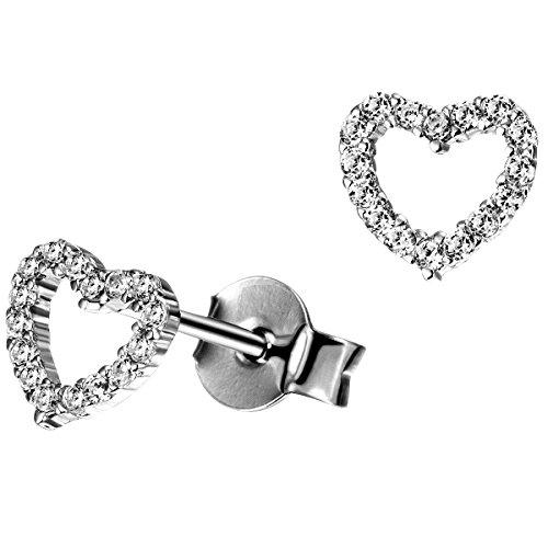 Goldmaid Pendientes de botón Mujer plata - He O8402S