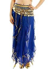 GAGA Women's Wrap Sequins Tassel Mini Skirts Belly Dance Hip Scarf Belt