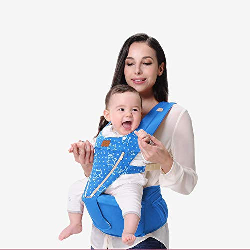 0-36 Months Baby Carrier Soft Sling All Carry with Hip Seat 360 Positions Ergonomic Adapt to Infant Hiking Backpack Carrier for Best Baby Gift-Blue