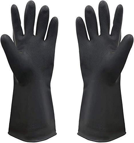 SAFEYURA Multipurpose Natural Gum Rubber Reusable Cleaning Gloves