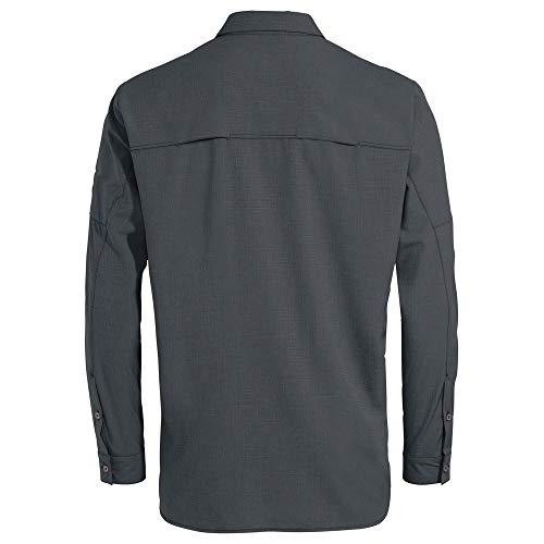 VAUDE Men's Rosemoor Ls Shirt II Shirt, Mens, Shirt, 42236, Grey (Iron), XXX-Large
