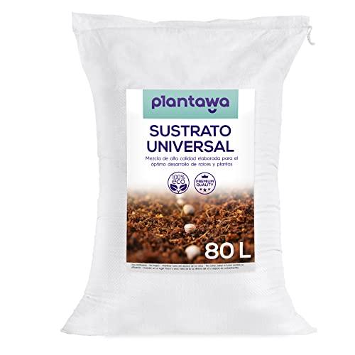 PLANTAWA Sustrato Universal 80L, Tierra para Plantas Sustrato para Plantar, Abono Natural para...