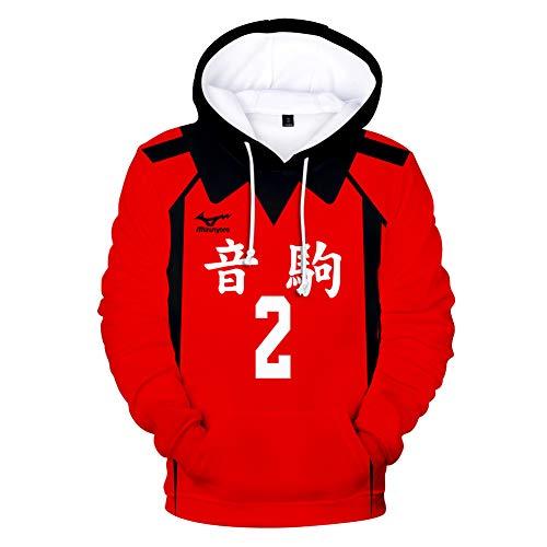 FISHOP Haikyuu Hinata Shoyo Oikawa Tooru Shiratorizawa Moniwa Kaname - Disfraz de voleibol con capucha para hombre