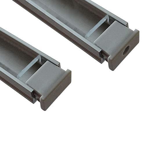 SO-TECH® Juego de tapas terminales para LED perfil-11 (1 x cerrado /...