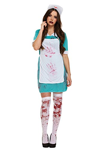 LADIES ZOMBIE NURSE BLOODY HALLOWEEN FANCY DRESS COSTUME OUTFIT THE WALKING DEAD SCRUBS CHEAP 00337 by Henbrandt