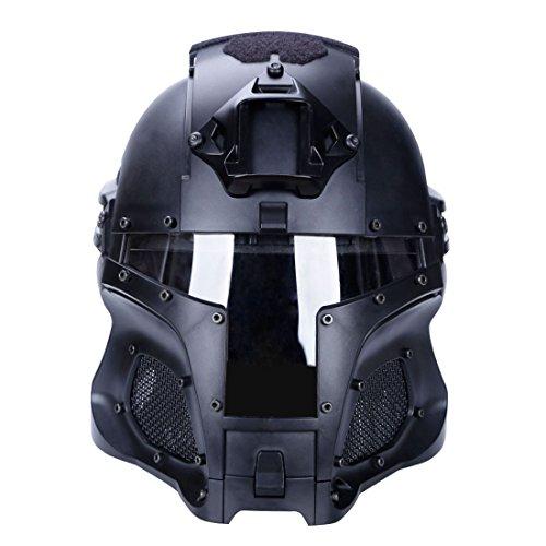 Mecotech Casco Táctico con Máscara y Gafas de Protección para Paintball, Combate,...