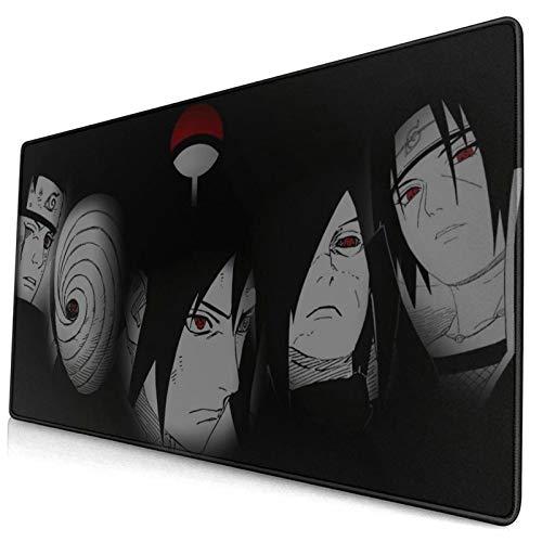 Sasuke Madara Obito Itachi Uchiha Sharingan Naruto Large Gaming Mouse Pad,with Non-Slip Computers Laptop Office&Home