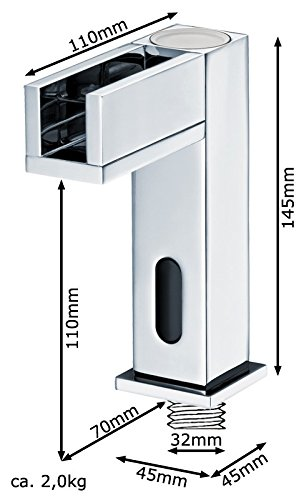 Sanlingo – Waschtisch-Sensorarmatur, Mischbatterie, Batteriebetrieb, Wasserfall, LED-Beleuchtung, Chrom - 5