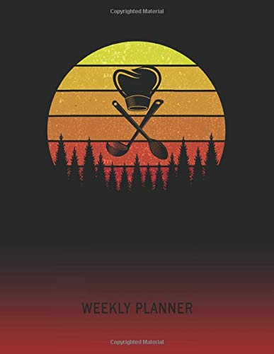 Weekly Planner: Cooking | 2021 - 2022 | Plan Weeks for 1 Year | Retro Vintage Sunset Cover | January 21 - December 21 | Planning Organizer Writing ... | Plan Days, Set Goals & Get Stuff Done