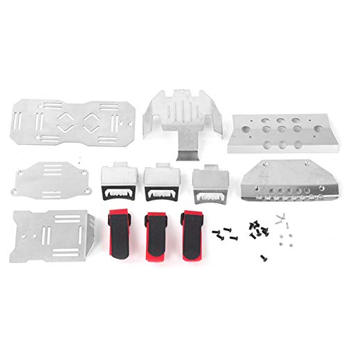 Marco de chasis de Coche RC, Placa Protectora de chasis de Acero Inoxidable Compatible con TRAXXAS TRX-6 G63 6X6 1/10 Modelo de Coche RC