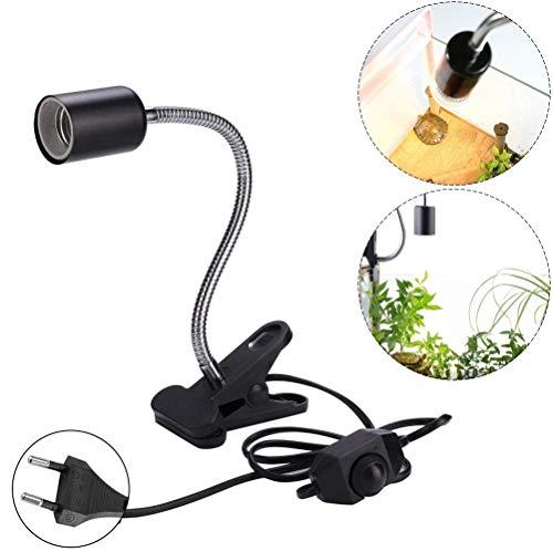 Schildkröten Heizung Lampe Halter Schwanenhals Lampenfassung Halter E27 Lampenfassung Lampenhalter Wärmelampe Lampe Halter für Reptil Terrarium(EU Plug)