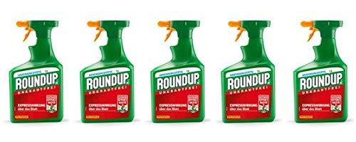 ROUNDUP AC Unkrautfrei Sprühflasche 5 l - Unkrautvernichter schnelle & effektive Wirkung in Beeten oder Gartenwegen