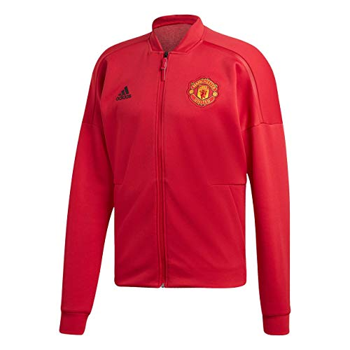 adidas Herren Manchester United Z.N.E. Hoodie Jacket Jacke, real red, M