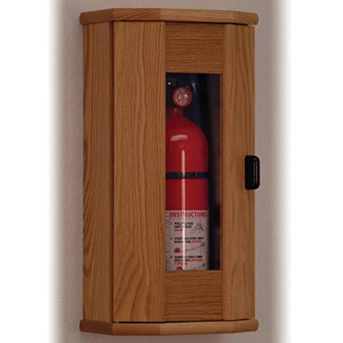 Wooden Mallet Fire Extinguisher Cabinet, 5-Pound, Light Oak/Acrylic